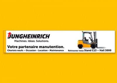 Bannière internet pour Jungheinrich