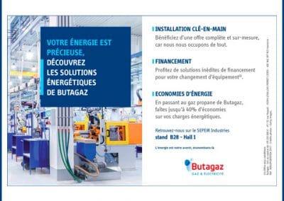 Encart publicitaire pour Butagaz