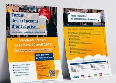 Affiche forum des créateurs d'entreprise