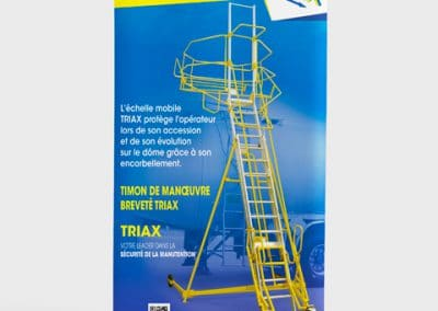 Roll-up échelle mobile Triax