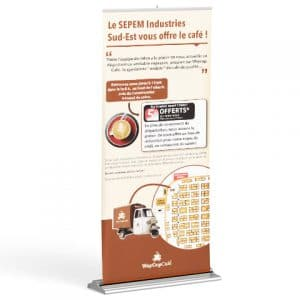 roll-up pour la societe waycup café