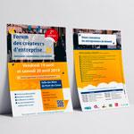 flyer pour un forum professionnel