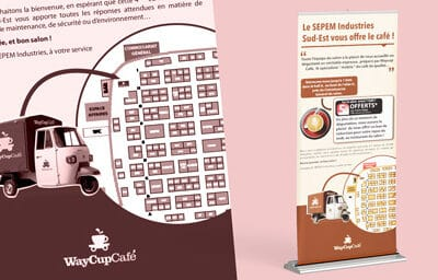 Roll-up pour Waycup café