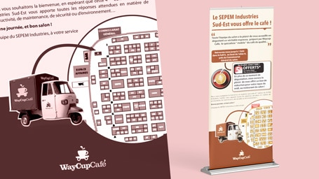 roll-up pour une societe qui vend du cafe