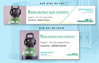 Encarts publicitaires pour Air Products