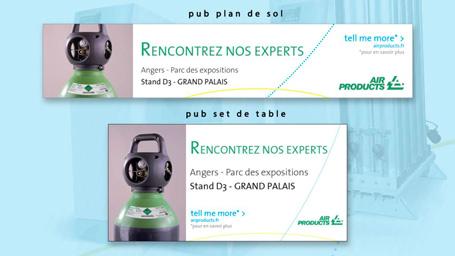 Encarts publicitaires pour Air Products