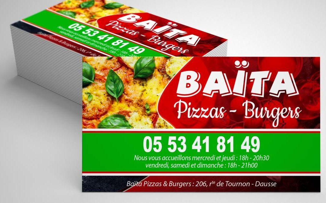 Carte de fidélité BAÏTA Pizzas & Burgers