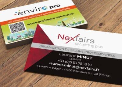 """Cartes de visite pour """"EnviroPRO"""""""