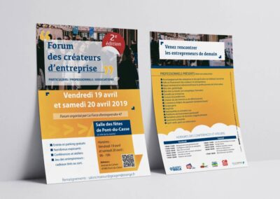Flyer Salon des entrepreneurs BGE