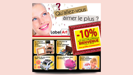 Banniere web pour Label-Art