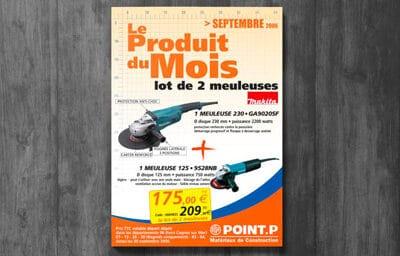 """Encart publicitaire pour """"Point P"""""""