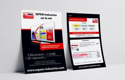 flyer pour SEPEM Industries sur le net