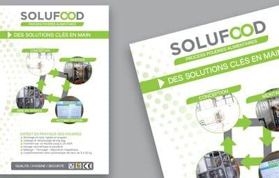 Affiche pour la société solufood